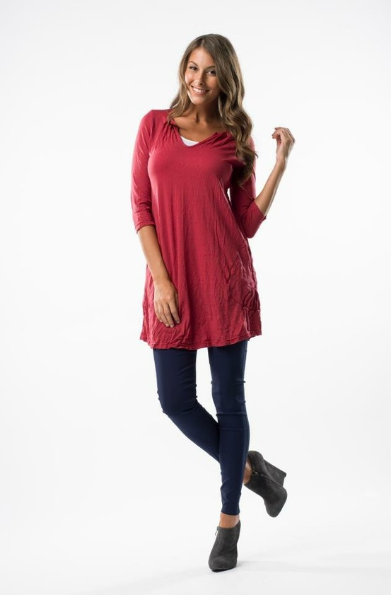Vigorella 3/4 sleeve tunic  $89.95