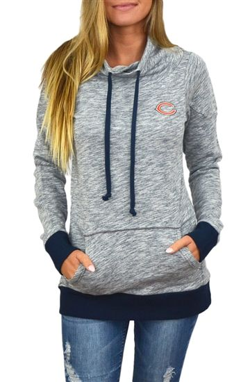 Chicago Bears Womens Cowl Neck Sweatshirt
