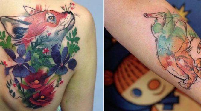 Красочные татуировки http://www.prohandmade.ru/other/krasochnye-tatuirovki/  #татуировки #тату #татусживотными #красивыетатуировки