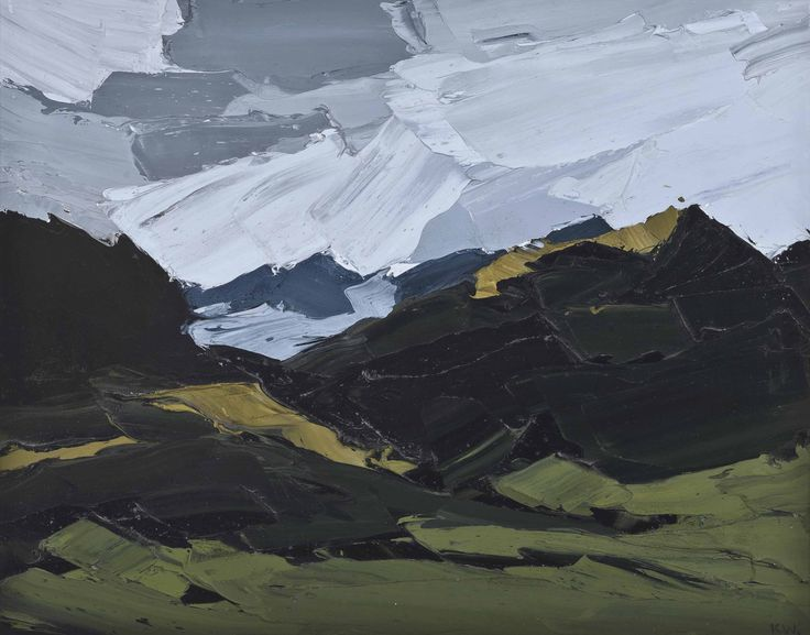 Kyffin Williams (UK, Wales, 1918-2006) Snowdon from Llanllyfni (1975) oil on canvas 40.7 x 50.8 cm