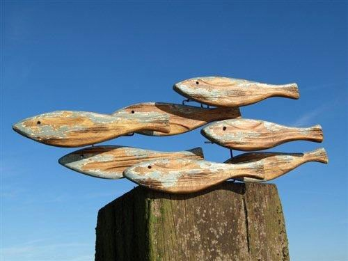 wooden fish wall art   {Dorset Gifts}