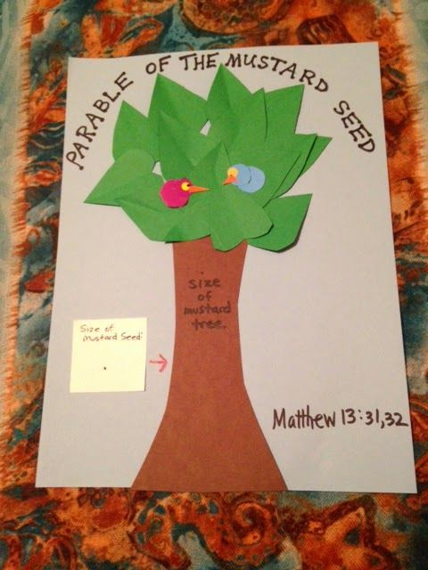 69 best images about mustard seed parable crafts on for Bible story crafts for kids