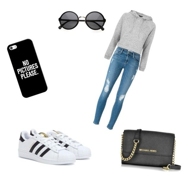 """""""Untitled #7"""" by nuria23 ❤ liked on Polyvore featuring Frame, adidas, Topshop, Casetify and Michael Kors"""