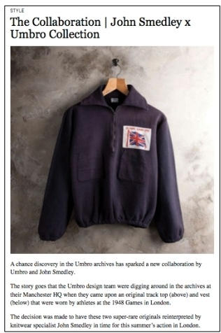 Esquire.co.uk - July 2012        'The Collaboration John Smedley x Umbro Collection'