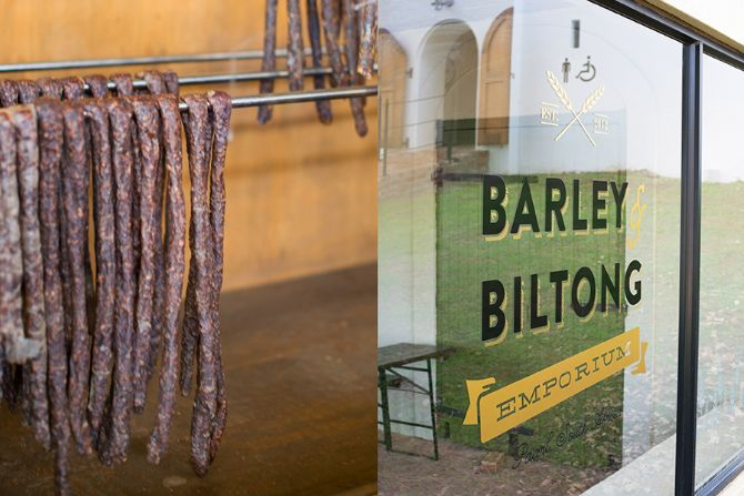 Take in the views while you enjoy a carefully selected range of Beef, Kudu, Eland, Springbok biltong and droëwors at  The Barley & Biltong! Open daily! www.spiceroute.co.za #SpiceRoutePaarl #BarleyBiltong #CBC