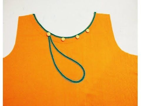 Kurti (suit) Front Neck New Design cutting and stitching 2017 to 2018 - YouTube