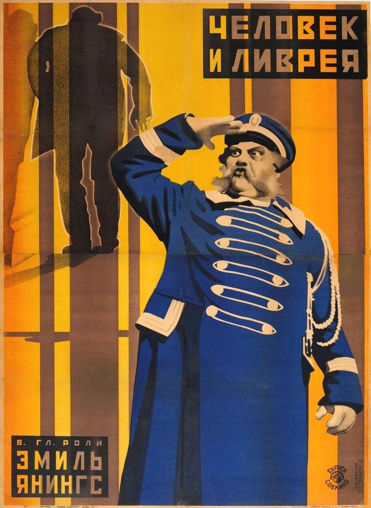 Stenberg Brothers and Yakov Ruklevsky - Original Constructivist Soviet Movie Poster For Der Letzte Mann - The Last Laugh | 1stdibs.com