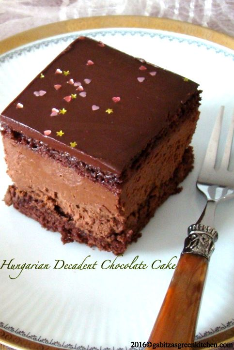 Hungarian Decadent Chocolate Cake. This is an inspired recipe from the classic Rigó Jancsi cake, named after the legendary Hungarian Gypsy violinist. The best chocolate cake out there.
