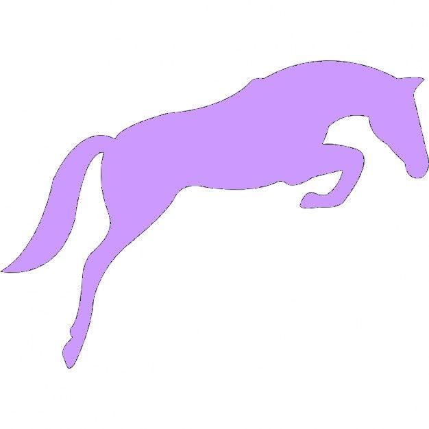 fichier sst ** cheval qui saute ** pour silhouette studio cameo