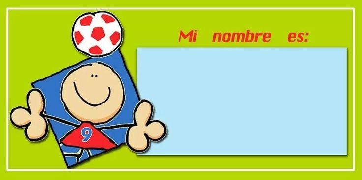 Mi nombre es... Gafets niño | GAFETES PARA ESCUELA | Pinterest