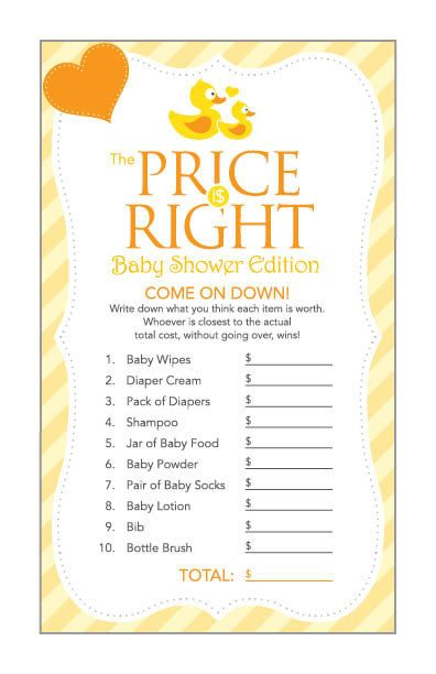Instant Download Yellow Rubber Duck Baby Shower by Studio20Designs