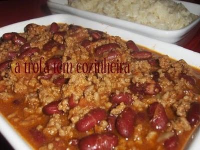 A Trofa tem Cozinheira...: Chili de Feijão Vermelho