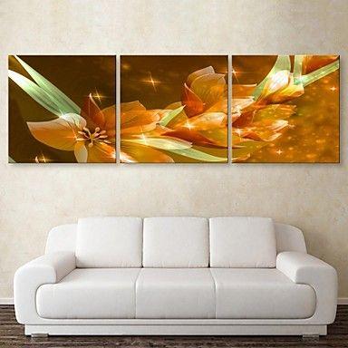 e-home® τεντωμένο καμβά τέχνης λουλούδι σετ ζωγραφικής διακόσμησης 3 – EUR € 78.99