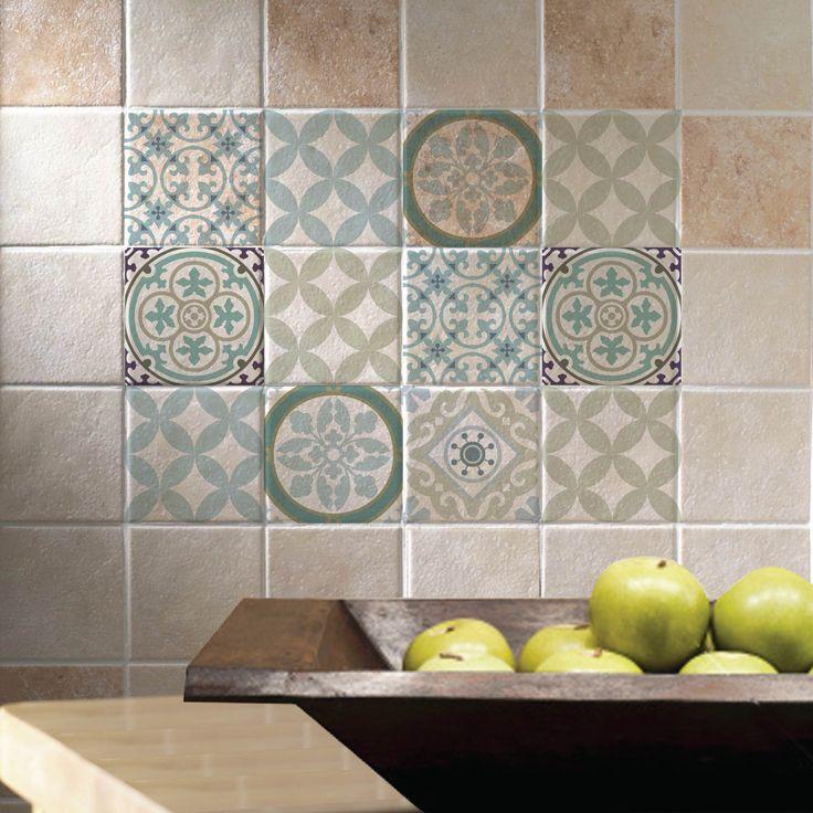 Mix Tile Decals Kitchen Bathroom Tiles Vinyl Floor Free Shipping Design 314