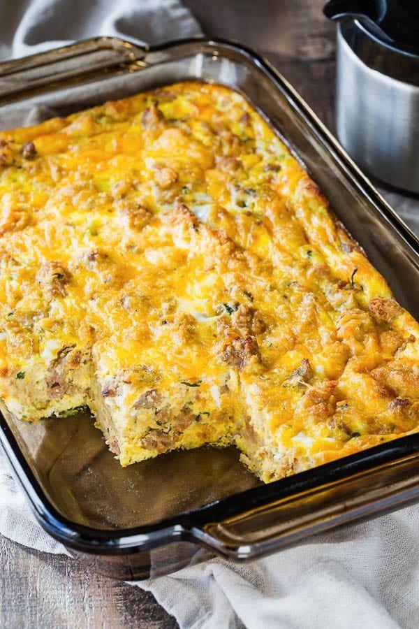 Leftover Stuffing Breakfast Casserole