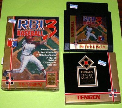 Tengen R B I RBI Baseball 3 for Nintendo NES in Box 31763025122   eBay