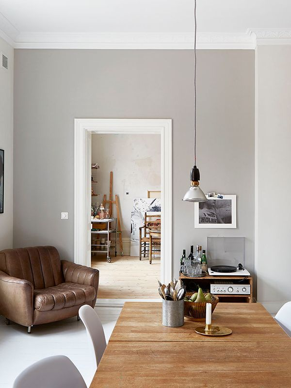 grey living room tan leather armchair fantastic frank, styling Josefin Hååg | (my) unfinished home