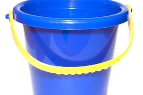 A bucket is handy for stain removal or setting fabric dye.