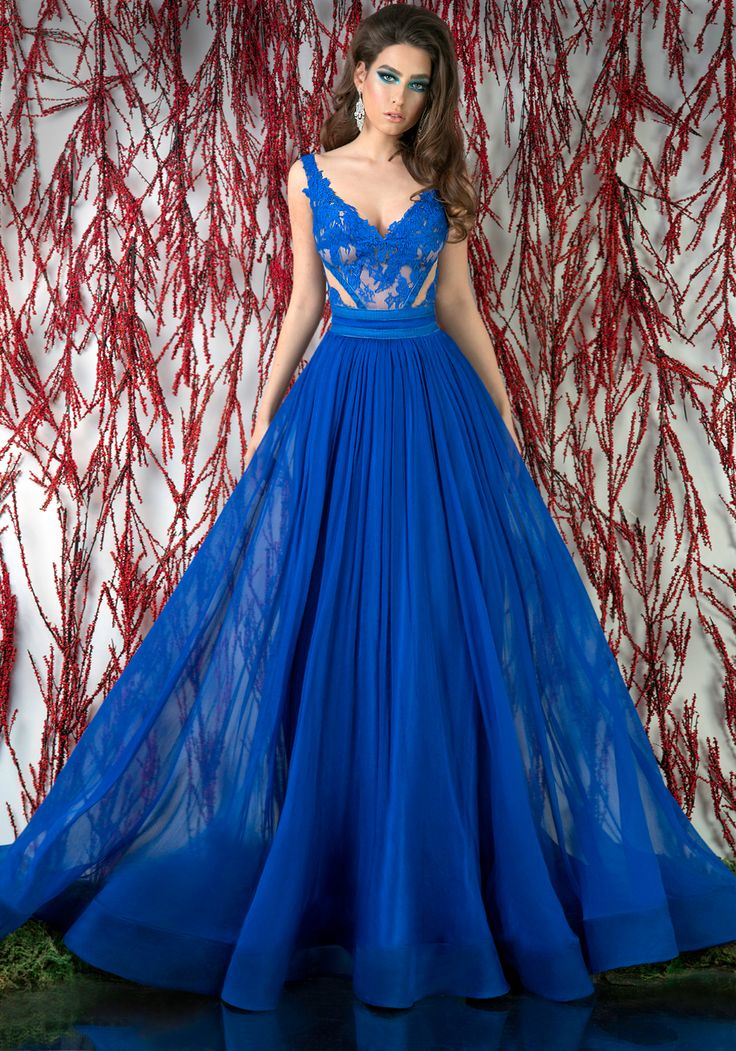 Blue lace and veil a-line evening dress. ♥   Shop your style online or book your appointment in a BIEN SAVVY store: Bucuresti: office@biensavvy.ro / +40757 370 108 Constanta: constanta@biensavvy.ro / +40757 825 185 Brasov brasov@biensavvy.ro / +40757 415 563