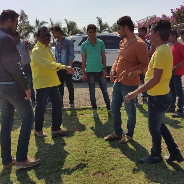 """On the set#""""Pyar bada ya Paisa""""#action director#Vilas bobde#Shooting site@nagpur location"""