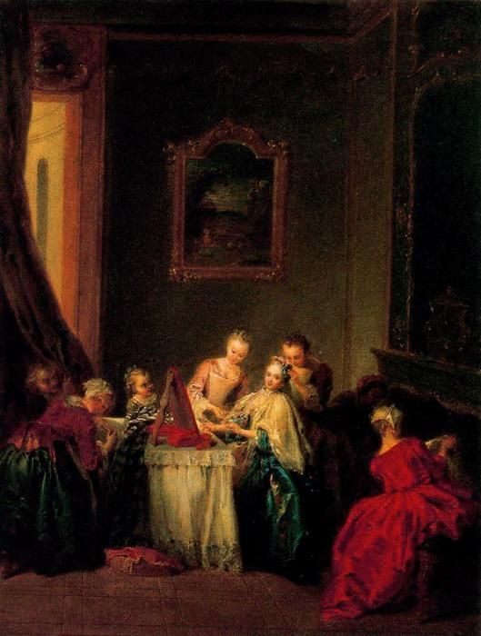'der toilette' von Jean-Baptiste Pater (1695-1736, France)