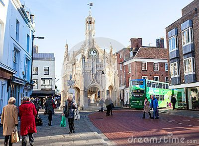 People shopping in Chichester town centre.