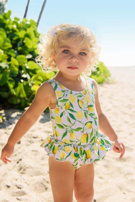 26778c4b9de2f Lemon Skirt Swimsuit | cute babies and kids | Baby girl swimsuit ...
