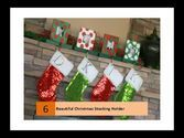 Christmas Stocking Holders For Mantle | Beautiful Christmas Stocking Holder