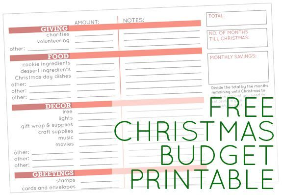 Free Christmas Budget Printable (and other ideas for a stress-free holiday …