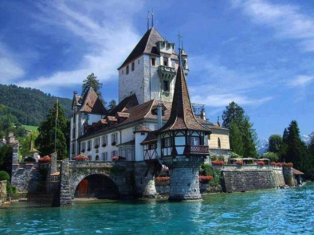 Lake Thun, Spiez, Switzerland.