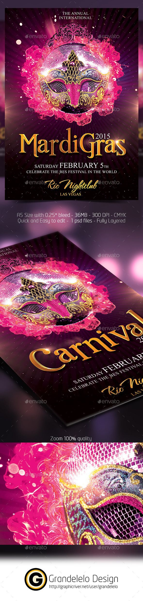 The Carnival 2015 Flyer Template - Clubs & Parties Events Download here: https://graphicriver.net/item/the-carnival-2015-flyer-template/9917972?ref=alena994