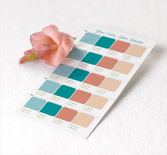How To Choose A Wedding Color Palette Free Swatches From Magnetstreet