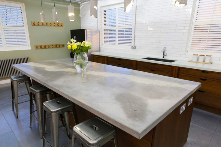 Building a polished concrete worktop | Redesign Blog