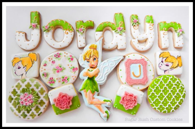 Tinker Bell Birthday Cookies   Cookie Connection
