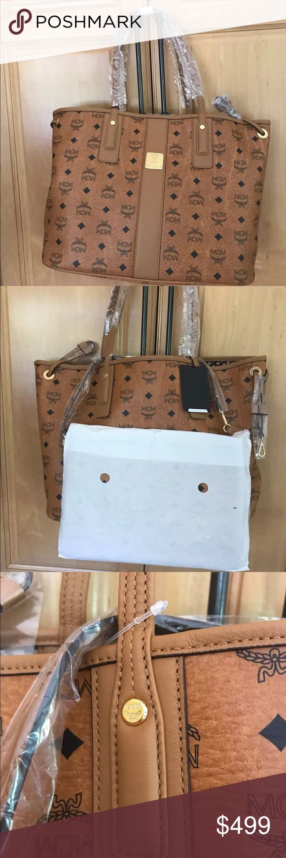 Authentic MCM Liz NEW tote and pouch medium Brand new mcm medium Liz tote and pouch. Includes cards and duster. TAg attached. Price firm MCM Bags Totes