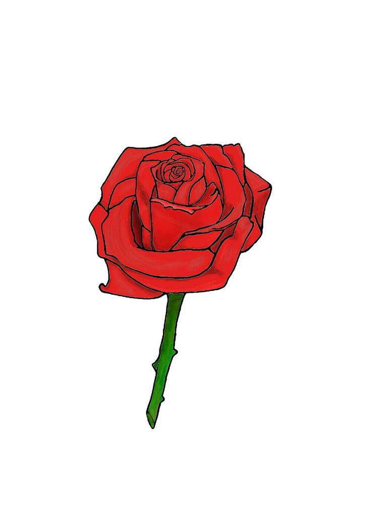 Natural art bing rosa roja dibujo