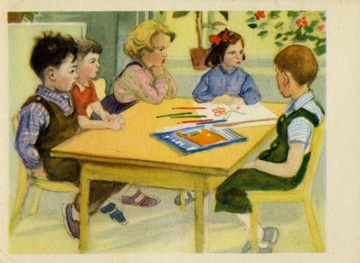 Советские картинки детей, картинка снежного