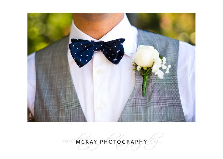 Cool bow tie and waist coat.  McKay Photography - http://www.mckayphotography.com.au