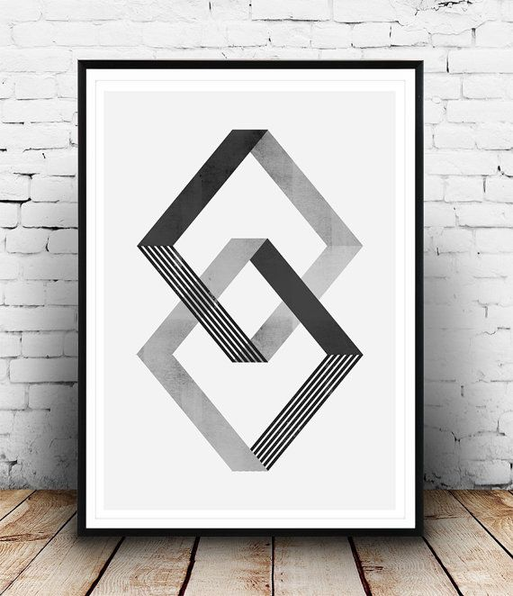 Geometrische abstrakte Wand Plakatkunst, moderner Wandkunst, Textur-Grafik, Op-Art print, minimalistisches print, skandinavischen drucken, Nordic Design,