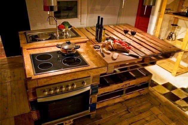 kitchen island pallet