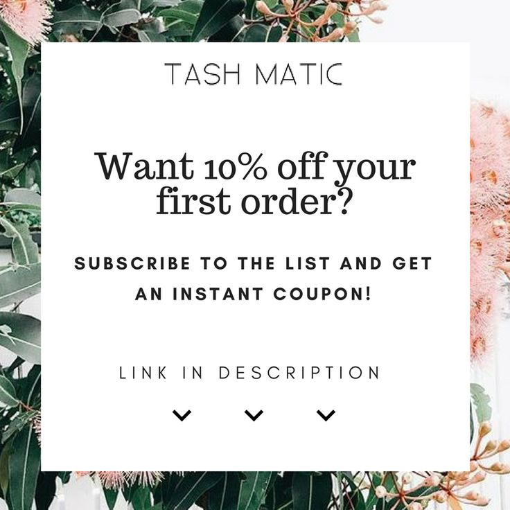 Sign up and receive a discount code for my Etsy store x