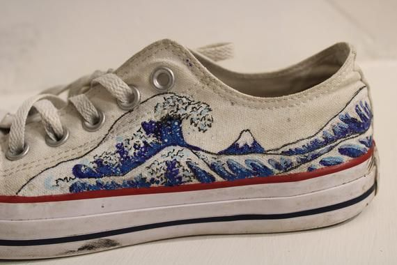 The Great Wave Hand Painted Custom To