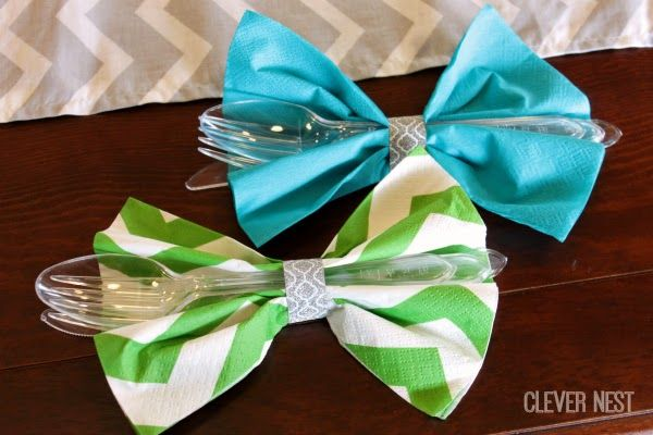25 best ideas about bow tie napkins on pinterest bow. Black Bedroom Furniture Sets. Home Design Ideas