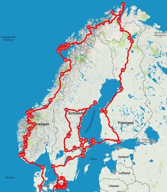Im Van durch Skandinavien