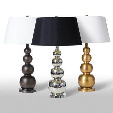 The Small Gourds Metal Table Lamps Are Made Of Either Antique Copper,  Antique Brass Or Nickel With Nice Proportions Of Stacked Bubbles.