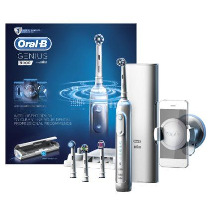Oral-B Genius 9000 Electric Rechargeable Toothbrush Powered by Braun - White