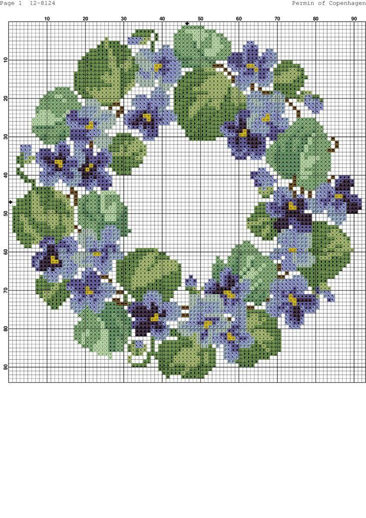 Violets wreath chart
