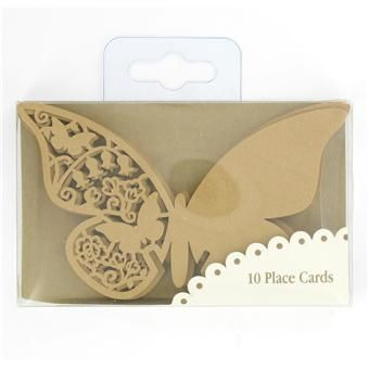 Talking Tables Butterfly Place Cards Gold Pk9