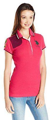 U.S. Polo Shirt Assn. Juniors Solid Pique Polo Shirt with Quilted Shoulder Detail - Shop for women's Shirt - Berry Bug Shirt