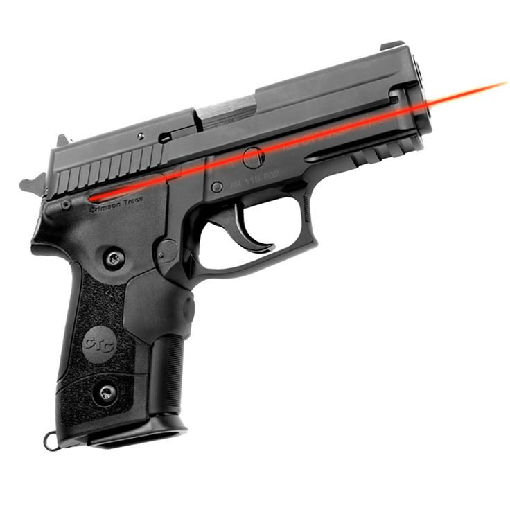 This Crimson Trace Sig P228/ P229 Lasergrip has been environmentally tested to MIL-STD 810 for waterproofing and salt water duty. The aggressive grip texture functions equally well with gloves or with